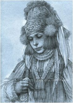 Girl in russian costume by Anwaraidd on DeviantArt