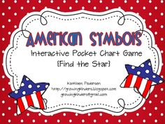 Free!!!  American Symbols! Great pics for match game!