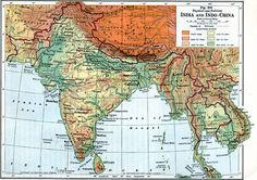 south asia 1916 description a map from 1916 of the india and indochina region of south asia showing political boundaries at the time and physical