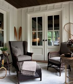 love these doors and the board/batten walls