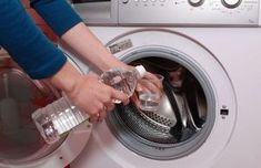 How to Clean the Inside of a Washing Machine. Everything needs to be cleaned once in a while, and a washing machine is no exception. After washing loads of dirty laundry, the inside of the machine can get stained, and odors may cling to. Cleaning Solutions, Cleaning Hacks, Clean Your Washing Machine, Clean Machine, Washing Machines, Laundry Hacks, Clean Freak, Cleaners Homemade, Natural Cleaning Products