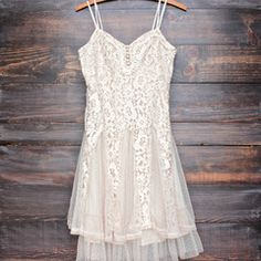 Ryu time will tell lace dress in champagne