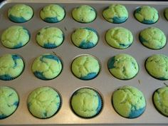 earth cupcakes! for earth day....