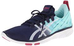 ASICS Women's GEL-Fit Sana Cross-Training Shoe, Navy/White/Hot