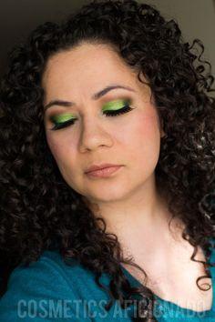 Lime Green Smoky Eye Friday Using Sugarpill Absinthe Chromalust, makeup, green, lime green, eyeshadow, via @CosmeticsAficionado