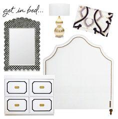 coco kelley bedroom inspiration black white glam