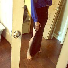 Black double side slit maxi air skirt Black double side slit maxi air skirt Forever 21 Skirts Maxi