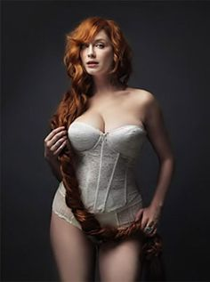 Christina Hendricks. I would like to know what she does with those two when she doesn't have to dress up and go out.