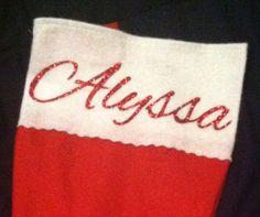 Personalized Christmas Stocking  on Etsy, $12.00