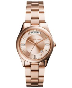 87d95987f02d Michael Kors Women s Colette Rose Gold-Tone Stainless Steel Bracelet Watch  34mm MK6071 - Watches
