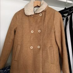 Coat winter for girl New 90% just wear one time, good for girl have the high around 162cm Zara Jackets & Coats Trench Coats