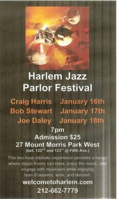 Harlem Jazz Parlor Festival January 2015