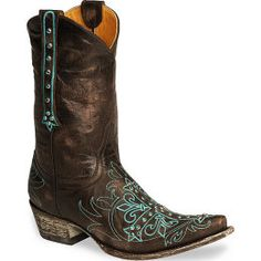 Old Gringo Womens Chocolate Milagros Cross Boots - Snip Toe