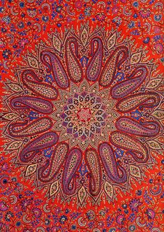 intricate Indian style mandala #Paisley #Paisley Pattern