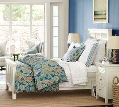 paisley duvet cover + shutter bed