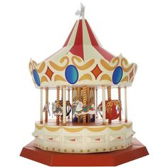 Free PDF and tutorial. WORKING Carousel,Toys,Paper Craft,white,angel,horse,amusement park,carriage,pegasus,Moving