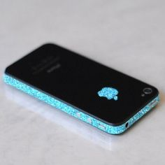 SPARKLING BLUE IPHONE WRAP. - TECH - ACCESSORIES wow so fk beautiful
