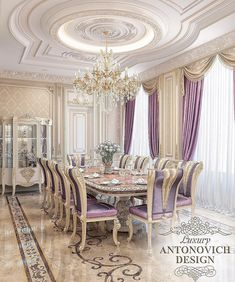 Ideas for Decorating an Elegant Dining Room Luxury Dining Room, Elegant Dining Room, Dining Room Design, Interior Design Living Room, Luxury Home Decor, Luxury Interior, Luxury Homes, Classic Interior, Dream Rooms