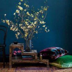 beautiful blue. beautiful table...