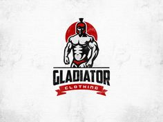 Logo design by Rom@n for marcreinhardcgn. A bold red highlights, including a crimson setting sun, convey strength in this gladiator illustration. #red #design #apparel