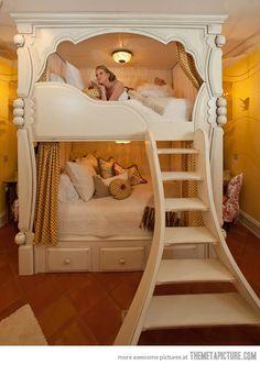 A princess' bunk bed…