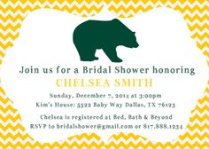 Baylor Bear Green and Gold Party Invitation by WhereDaffodilsBloom
