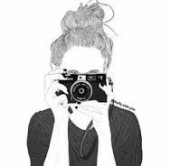 Image result for drawings of girls tumblr with camera