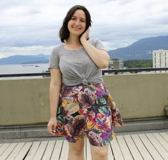 Tropical Linen Hollyburn Skirt | Sewaholic
