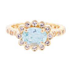wedding set ring 24k gold vermeil