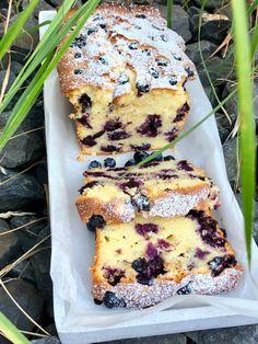 # lemon cake # bilberry cake # yogurt cake - Rezepte - Healt and fitness Lemon Recipes, Easy Cake Recipes, Ice Cream Recipes, Snack Recipes, Dessert Recipes, Yogurt Cake, Blueberry Cake, Food Cakes, Easy Meals
