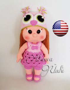 Hey, I found this really awesome Etsy listing at https://www.etsy.com/listing/168742116/pattern-mia-doll-with-owl-hat-and