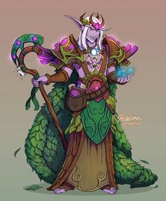 Commission 12 of 15 in my queue Night Elf Druid (commission) Moon Elf, Elf Druid, World Of Warcraft Characters, Warcraft Art, Night Elf, Character Poses, Character Ideas, Alien Races, D&d Dungeons And Dragons