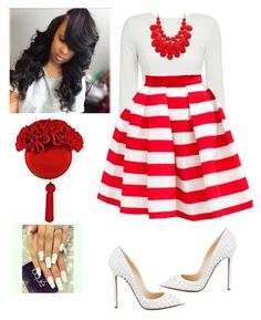 """""""Untitled #470"""" by cogic-fashion ❤ liked on Polyvore featuring mode, Christian Louboutin et Prada"""