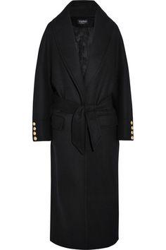 Balmain | Oversized wool coat | NET-A-PORTER.COM