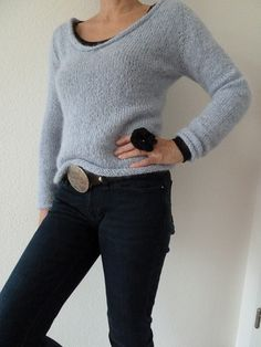 Ravelry: Filzperle's Simple Top Down V-Neck Sweater