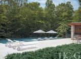 Plaid Meets Prada When Scottish-Born Architect Kevin O'Sullivan Designs a Home for Art-Loving Clients in Amagansett. Outdoor Pool, Outdoor Decor, House Tours, The Hamptons, Gazebo, Exterior, Outdoor Structures, Patio, Architecture