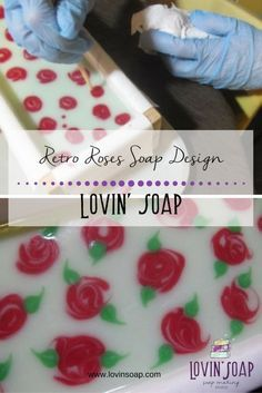 Retro Roses soap design