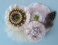 Lace Vintage pin rustic Wedding flower brooch by Paxty on Etsy, $64.00