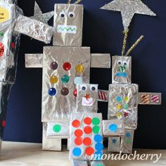 outer space party.....build your own robot