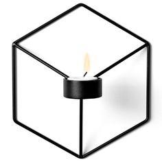 Menu 4766539 Wand-Kerzenhalter POV, 21 x 10,5 x 18,5 cm, schwarz