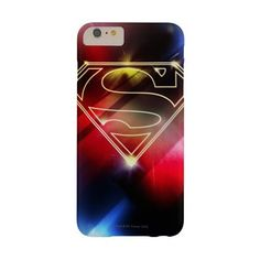 Shiny Yellow Outline Superman Logo Barely There Iphone 6 Plus Case ($48) ❤ liked on Polyvore featuring accessories and tech accessories