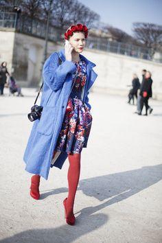 Fotos de street style en Paris Fashion Week: Zhanna Romashka