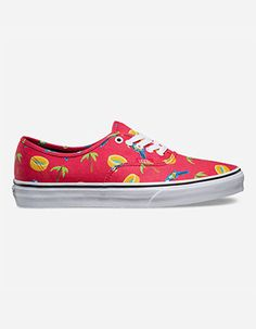 VANS Pool Vibes Authentic Shoes Red