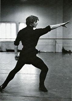 Mikhail Baryshnikov in 'Medea'. ABT rehearsal, 1976