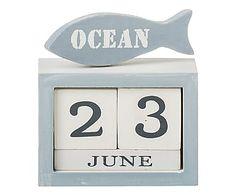Calendario de madera de paulonia