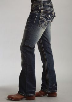 Style Addiction - Rock Revival Tucker B11 Mens Bootcut Jeans