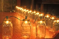 hoedown decorating ideas | Beautifully lit mason jars lined the dance floor.