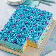 Pastel Baby Shower Niño Betun, Mini Cakes, Cupcake Cakes, Cupcake Frosting Recipes, Baby Cakes, Diaper Cakes, Pastel Rectangular, Sheet Cake Pan, Birthday Sheet Cakes
