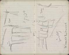 George Hendrik Breitner | Gezicht op de Nieuwendijk te Amsterdam, George Hendrik Breitner, 1892 - 1900 | Pagina 67 en pagina 68 uit een schetsboek met 38 bladen.