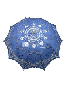Mysterious Blue Wood Lace Umbrella